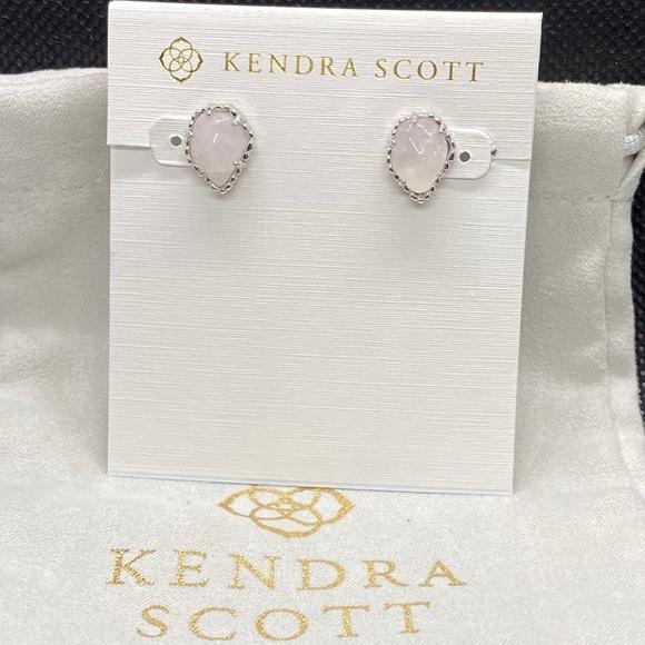 New Kendra Scott Silver Tessa In Rose Quartz
